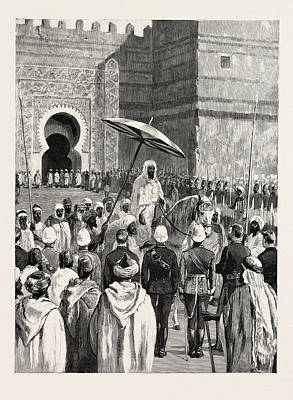 Sir Charles Euan-smiths Mission To The Court Of Morocco Art Print