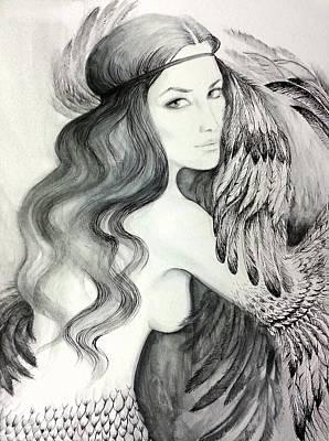 Siren Art Print by Roksolana Tchotchieva
