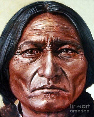 Chief Painting - Sitting Bull by Stu Braks