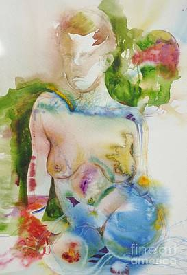 Painting - Sitting Nude by Donna Acheson-Juillet