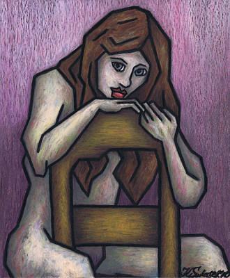 Sitting Nude Original by Kamil Swiatek