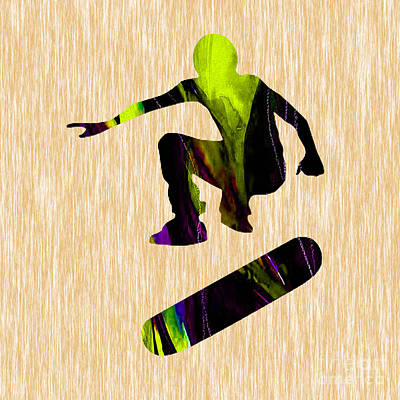 Mixed Media - Skateboarder by Marvin Blaine