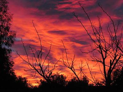 Digital Art - Sky On Fire by Joyce Woodhouse