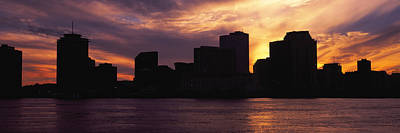 Louisiana Photograph - Skyscrapers At The Waterfront, River by Panoramic Images