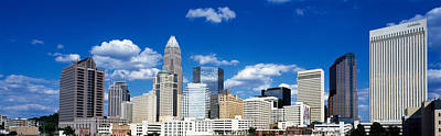 Crowd Scene Photograph - Skyscrapers In A City, Charlotte by Panoramic Images