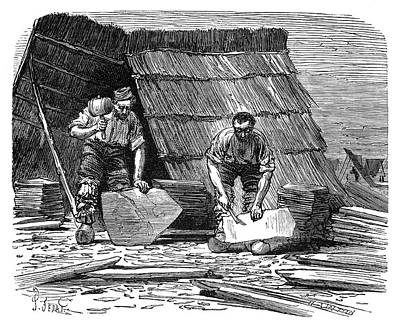 1874 Photograph - Slate Quarrying by Science Photo Library
