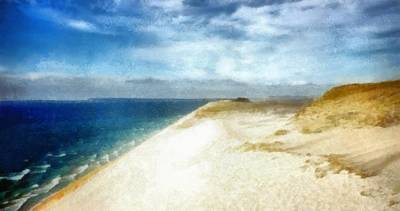 Lake Michigan Digital Art - Sleeping Bear Dunes National Lakeshore by Michelle Calkins