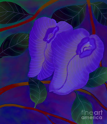 Art Print featuring the digital art Sleeping Beauties by Latha Gokuldas Panicker