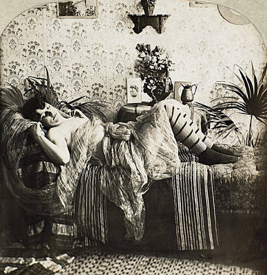 Photograph - Sleeping Woman, C1900 by Granger
