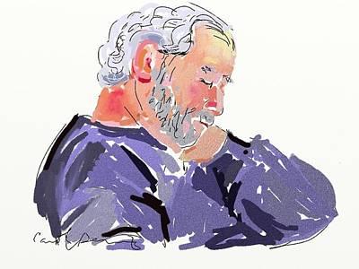 Sleepy Joe Art Print by Carol Berning