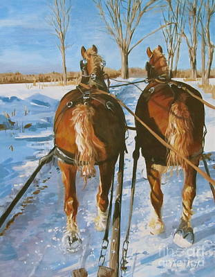Sleigh Ride Original by Anda Kett
