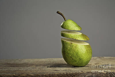 Pear Photograph - Sliced by Nailia Schwarz
