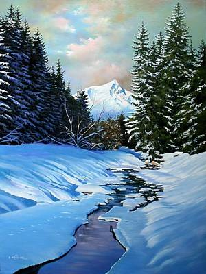 Painting - slopes of the Alps by Dragan Ivkovic
