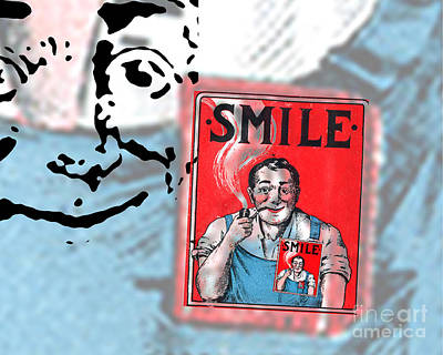 Smoking Digital Art - Smile by Edward Fielding