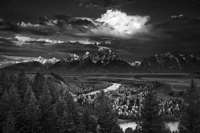 Meandering Photograph - Snake River Overlook by Andrew Soundarajan