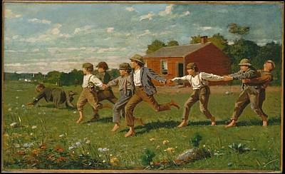 Snap The Whip Painting - Snap The Whip by Winslow Homer