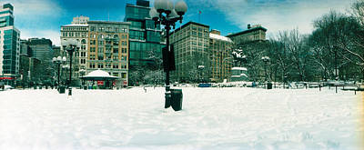 Snow Covered Park, Union Square Art Print by Panoramic Images