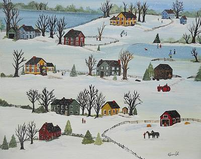 Painting - Snow Day by Virginia Coyle
