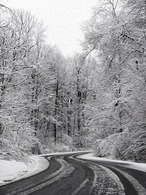 Snow On The Trees Art Print