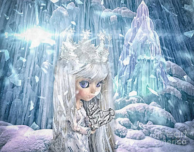 Ice-t Painting - Snow Queen by Mo T
