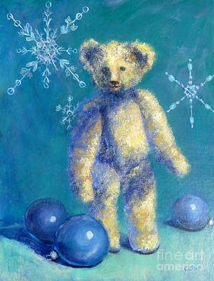 Painting - Snowflake Bear by Carolyn Jarvis