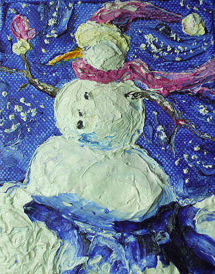Snowman Print by Paris Wyatt Llanso