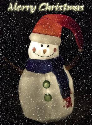 Photograph - Snowman  by Saija  Lehtonen