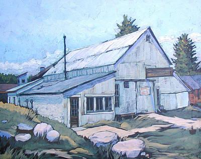 Nederland Colorado Painting - Snyders Garage by Al Hart