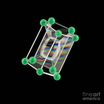 Soap Bubbles On A Pentagonal Prism Frame Art Print by Paul Rapson