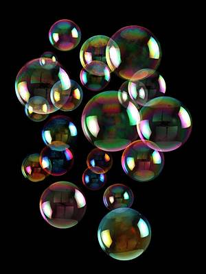 Fluid Photograph - Soap Bubbles by Victor De Schwanberg