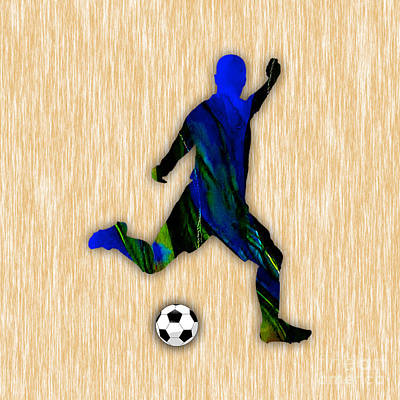 Soccer Player Art Print by Marvin Blaine