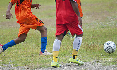 Photograph - Soccer Players In Timor-leste by Dan Suzio
