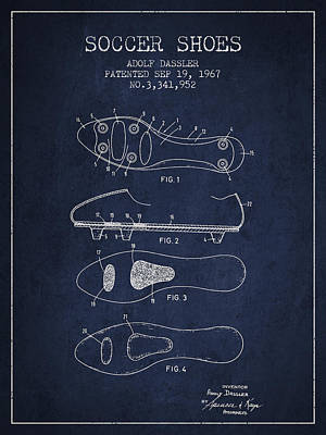 Soccer Shoe Patent From 1967 Art Print