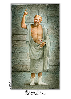 Knowledge Painting - Socrates... by Will Bullas