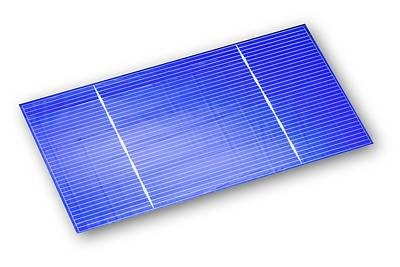 Semiconductor Photograph - Solar Cell by Alfred Pasieka