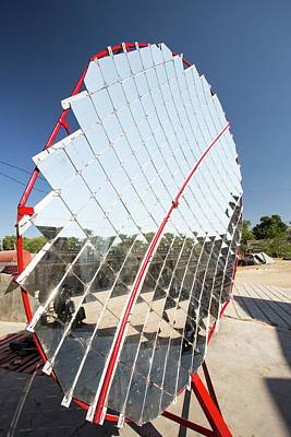 Solar Cookers At The Barefoot College Art Print by Ashley Cooper