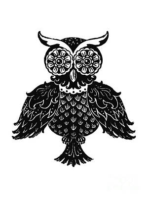 Sophisticated Owls 1 Of 4 Art Print by Kyle Wood