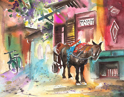 Painting - Souk In Marrakesh 01 by Miki De Goodaboom
