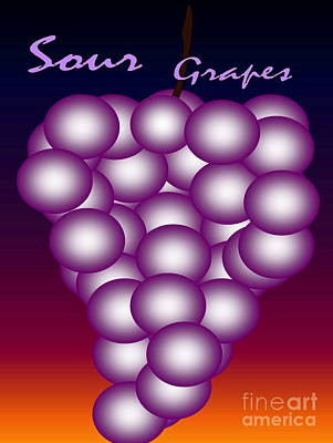 Sour Grapes Art Print by Gayle Price Thomas