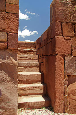 South America, Bolivia, Tiwanaku Art Print
