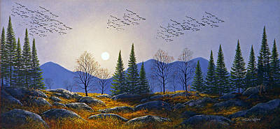 Painting - Southern Migration By Moonlight by Frank Wilson