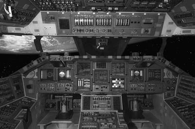 Cockpit Photograph - Space Shuttle Cockpit by Mountain Dreams