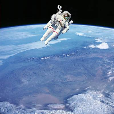 Extravehicular Activity Photograph - Space-walk by Detlev Van Ravenswaay