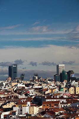 Spain, Madrid, Centro Area, Elevated Art Print