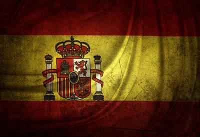 Spanish Flag Art Print by Les Cunliffe