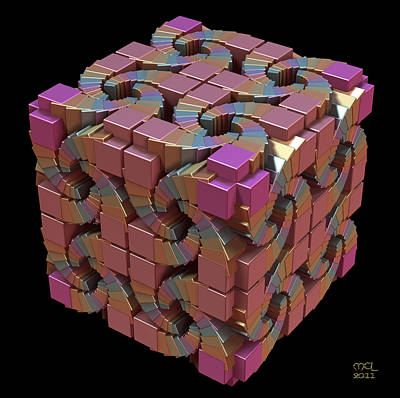 Digital Art - Spiral Box IIi by Manny Lorenzo