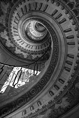 Spiral Staircase Art Print by Chevy Fleet