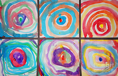 Watercolor Painting - Spirals by Celestial Images