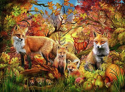 Pumpkins Drawing - Spirit Of Autumn by Ciro Marchetti
