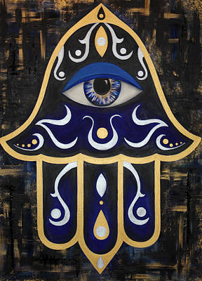 Universal Mother Painting - Spirit Of The Hamsa by Allison Liffman